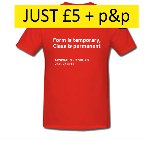 Arsenal 5 - Spurs 2 T-shirts